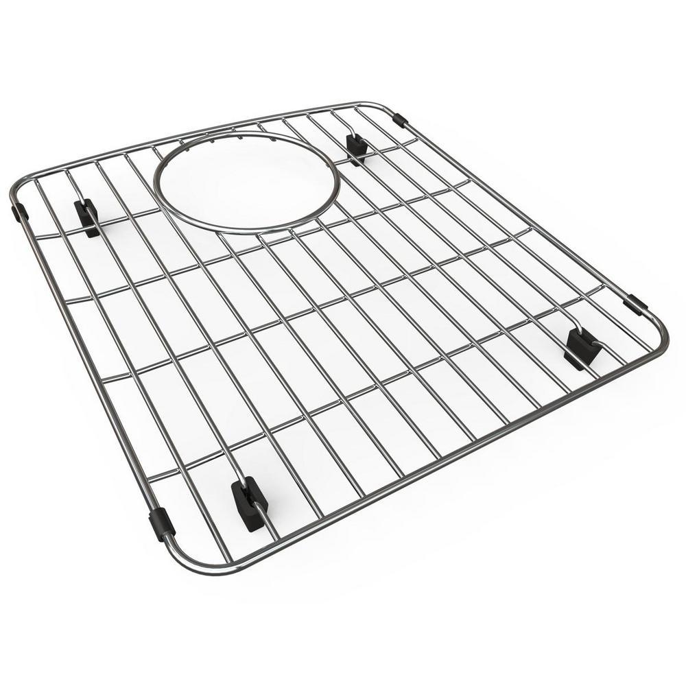 Quartz 12.75 in. x 14.5 in. Bottom Grid for Kitchen Sink in Stainless Steel