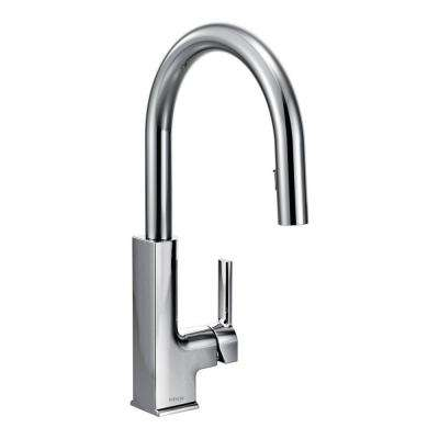 STO Single-Handle Pull-Down Sprayer Kitchen Faucet with Reflex in Chrome