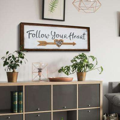 Follow Your Heart Wooden Wall Art