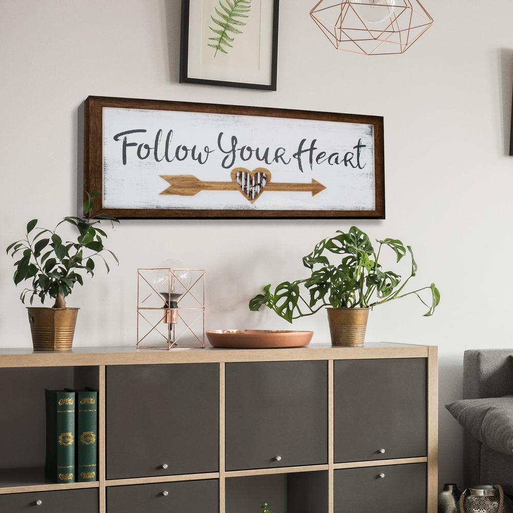 Pinnacle Follow Your Heart Wooden Wall Art 1712 3231 The Home Depot