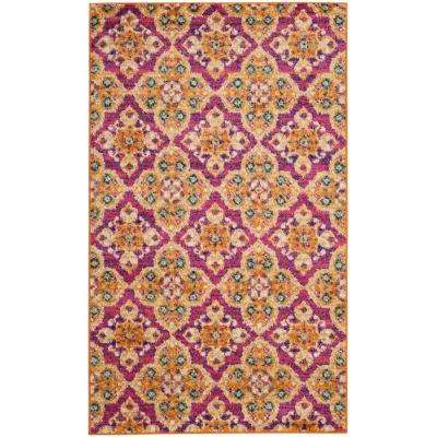 Madison Fuchsia/Gold 3 ft. x 5 ft. Area Rug