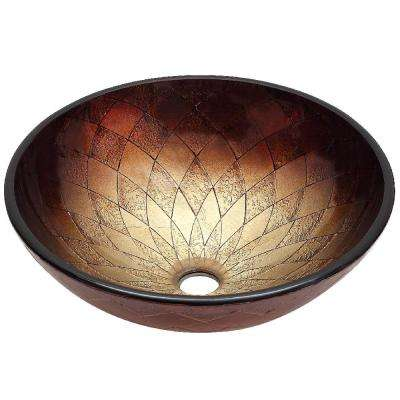 Beaver Glass Vessel Sink Handcrafted in Rich Copper Brown Tone
