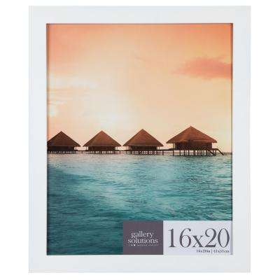 16 in. x 20 in. White Flat Poster Picture Frame