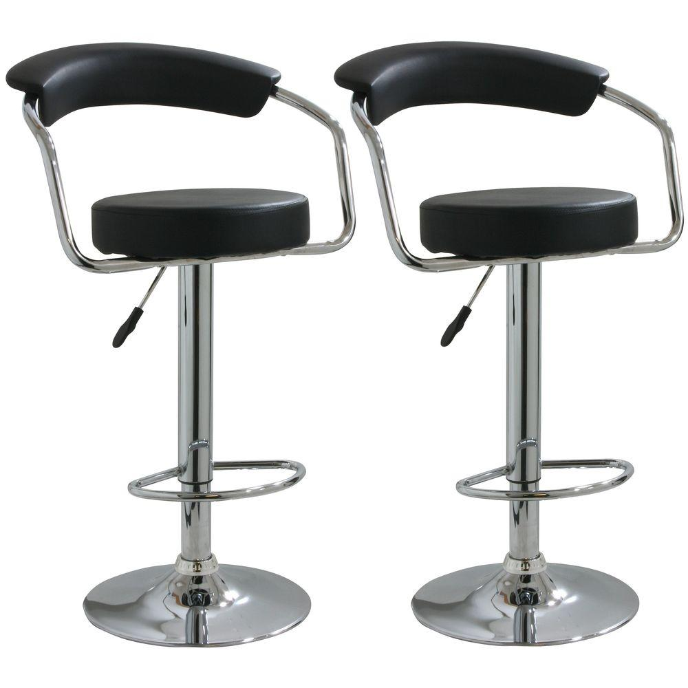 Phenomenal 33 In Adjustable Height Black Swivel Cushioned Bar Stool Gamerscity Chair Design For Home Gamerscityorg