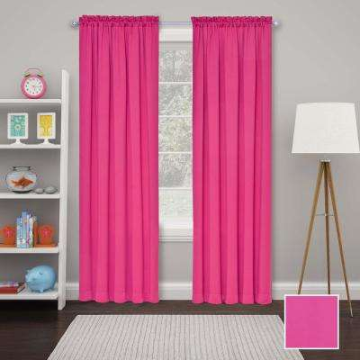 Tricia 63 in. L Polyester Curtain in Pink