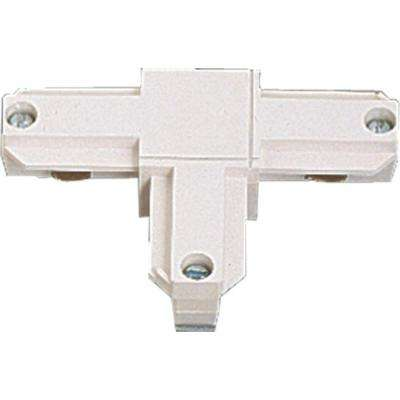 White Track Accessory with T-Connector - Inside Right Polarity