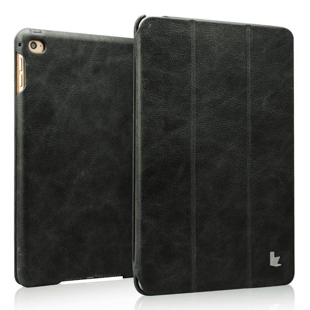 Vintage Genuine Leather Smart Case - Black