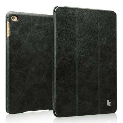 Vintage Genuine Leather Smart Case - Black