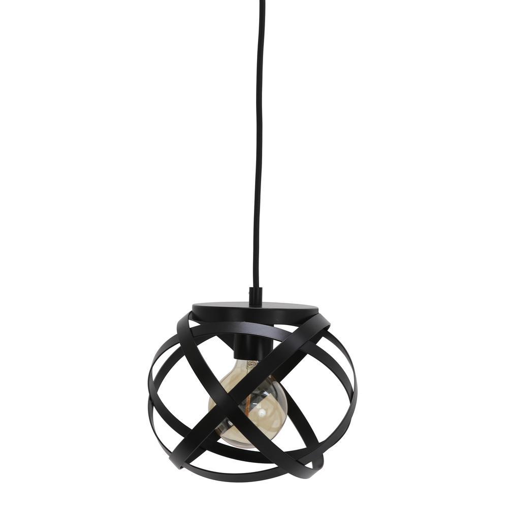 Noah 1-Light Black Pendant