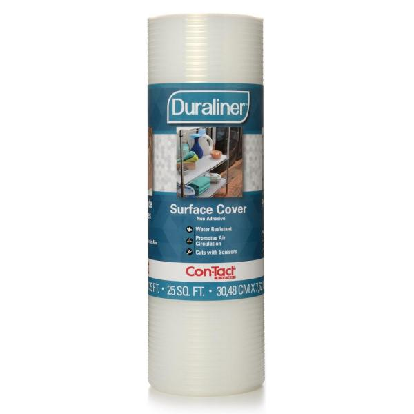 Con-Tact Duraliner White Diamond Shelf/Drawer Liner (Set of 6) 10F-CL5P11-06