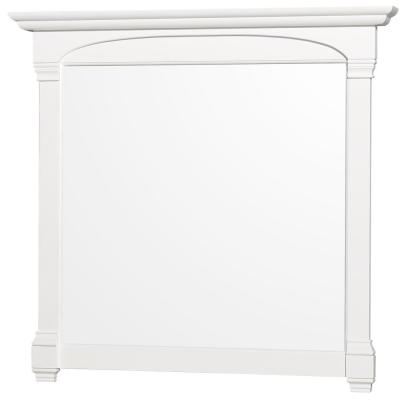 Andover 44 in. W x 41 in. H Framed Rectangular Bathroom Vanity Mirror in White