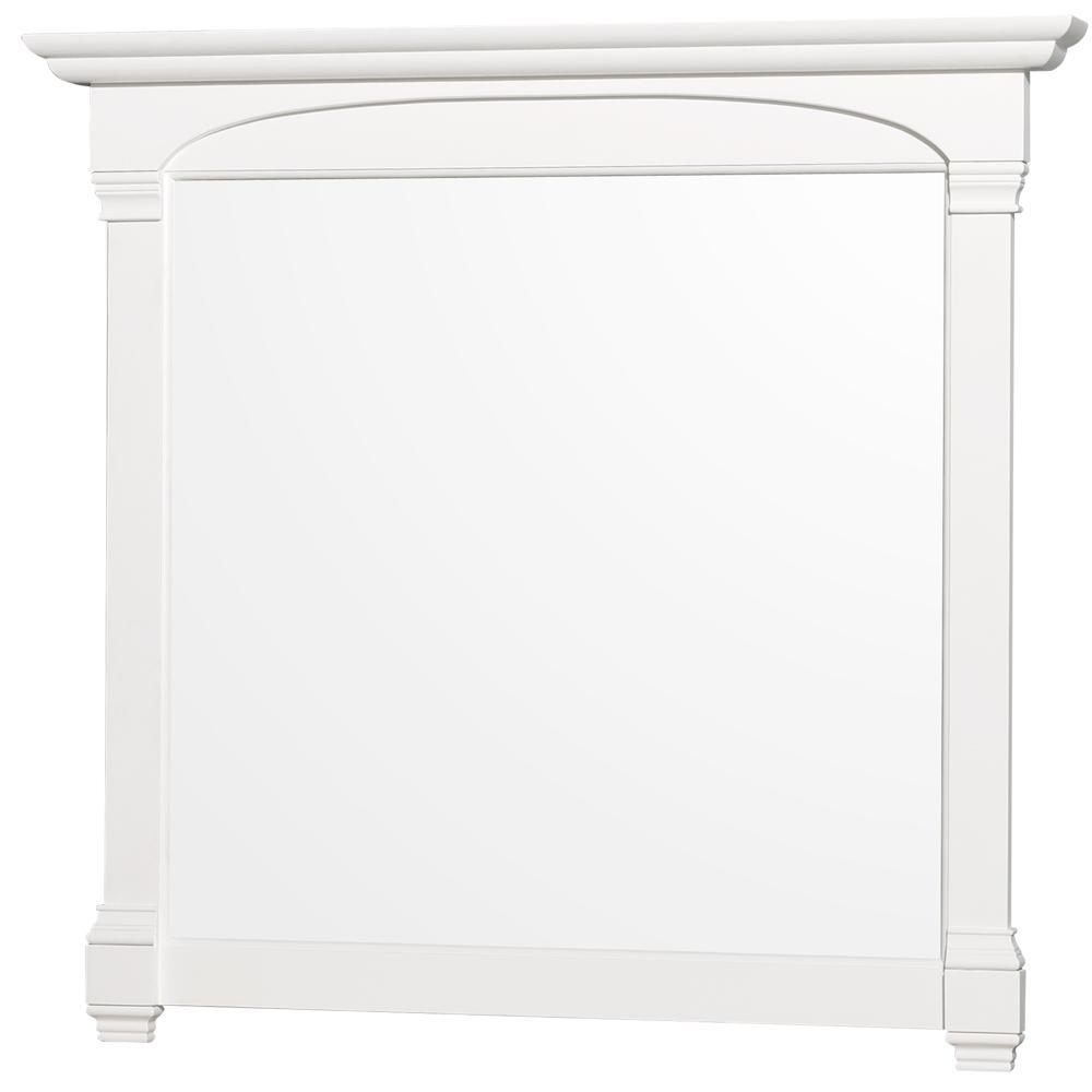 Andover 44 in. W x 41 in. H Framed Rectangular Bathroom Vanity Mirror in White