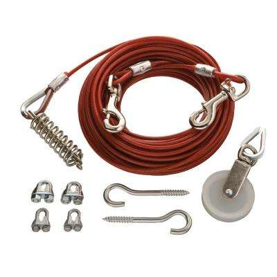 1/8 in. x 75 ft. Galvanized Dog Run Cable Exerciser Kit