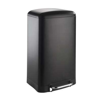 Studio 7.9 Gal. Easy Close Matte Black Step on Trash Can