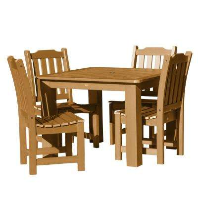 Lehigh Toffee 5-Piece Recycled Plastic Square Outdoor Dining Set