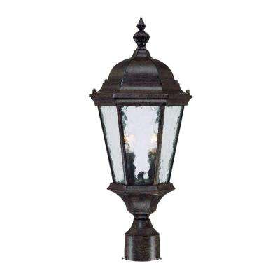 Telfair 2-Light Black Coral Outdoor Post-Mount Light Fixture