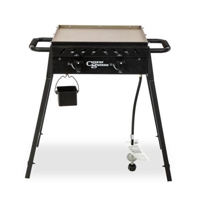 COUNTRY SMOKERS The Plains-Horizon 373 sq.-inch 2-Burner Portable Gas Griddle Cooking Space in Black