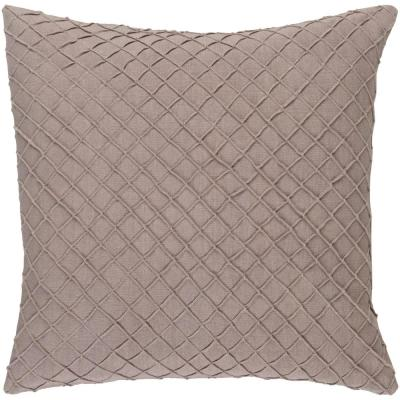 Gorleston Beige Solid Polyester 20 in. x 20 in. Throw Pillow