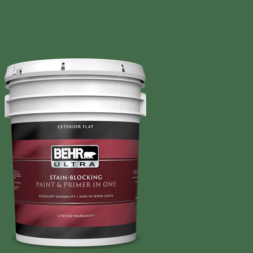Reviews For Behr Ultra 5 Gal M400 7 Garden Cucumber Flat Exterior Paint And Primer In One 485305 The Home Depot