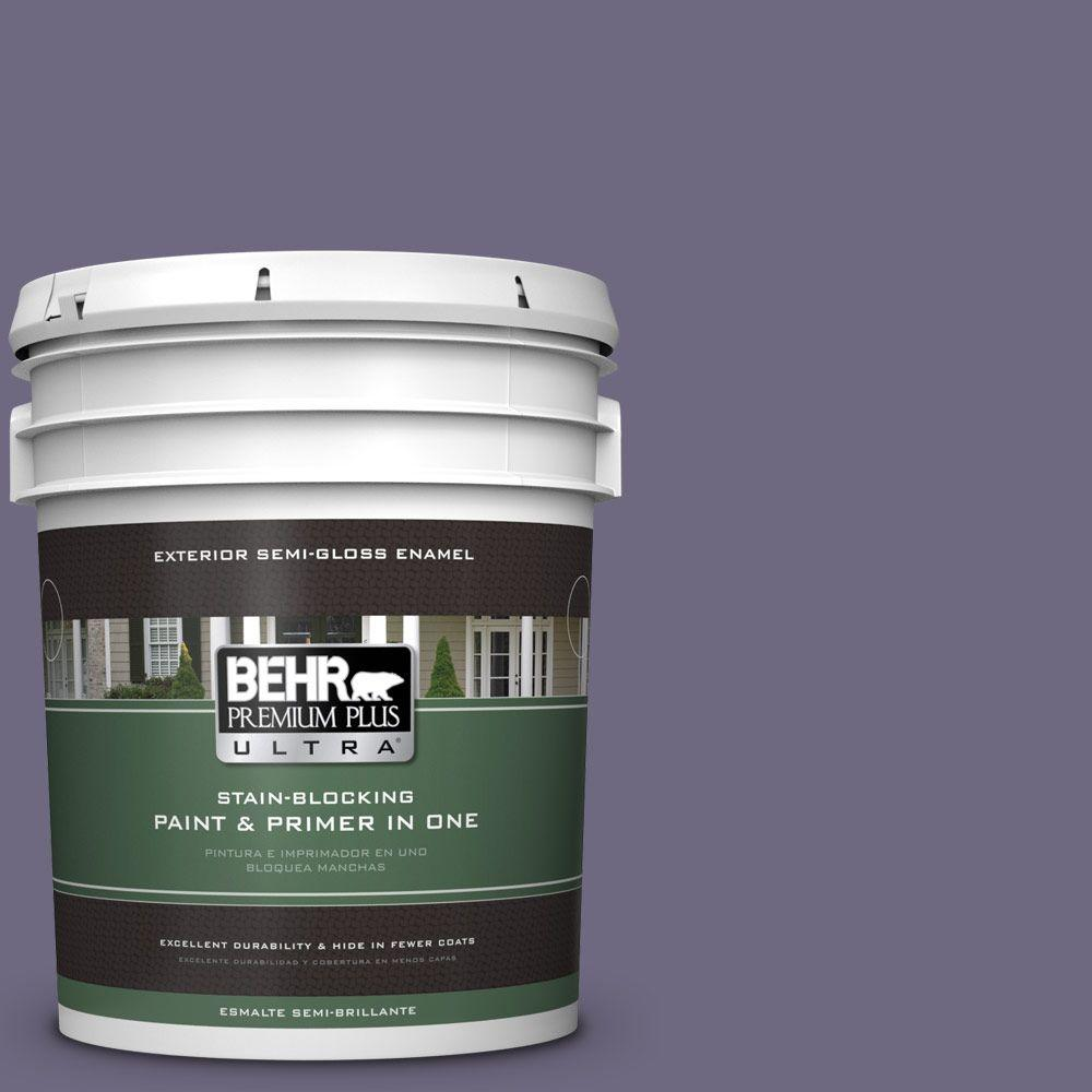 BEHR Premium Plus Ultra 5-gal. #S570-6 New Orleans Semi-Gloss Enamel Exterior Paint