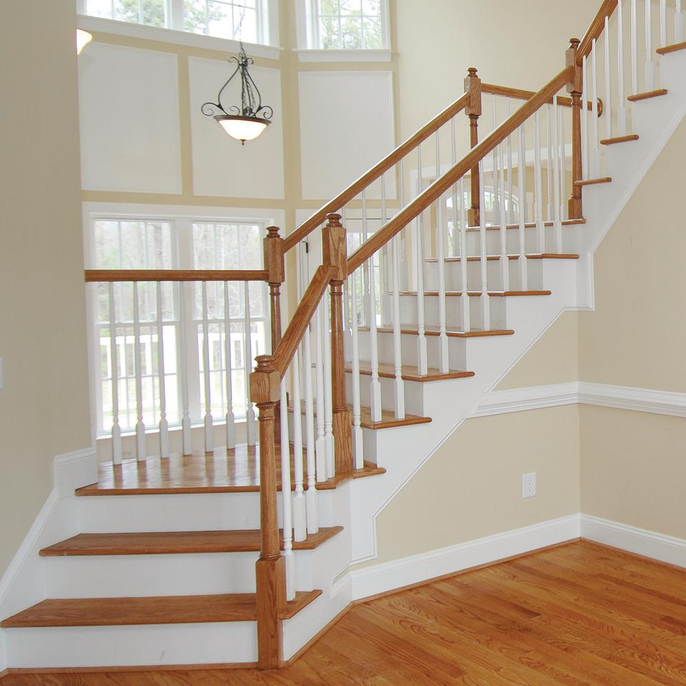 8 Ft Unfinished Red Oak Stair Handrail Paintable Stainable