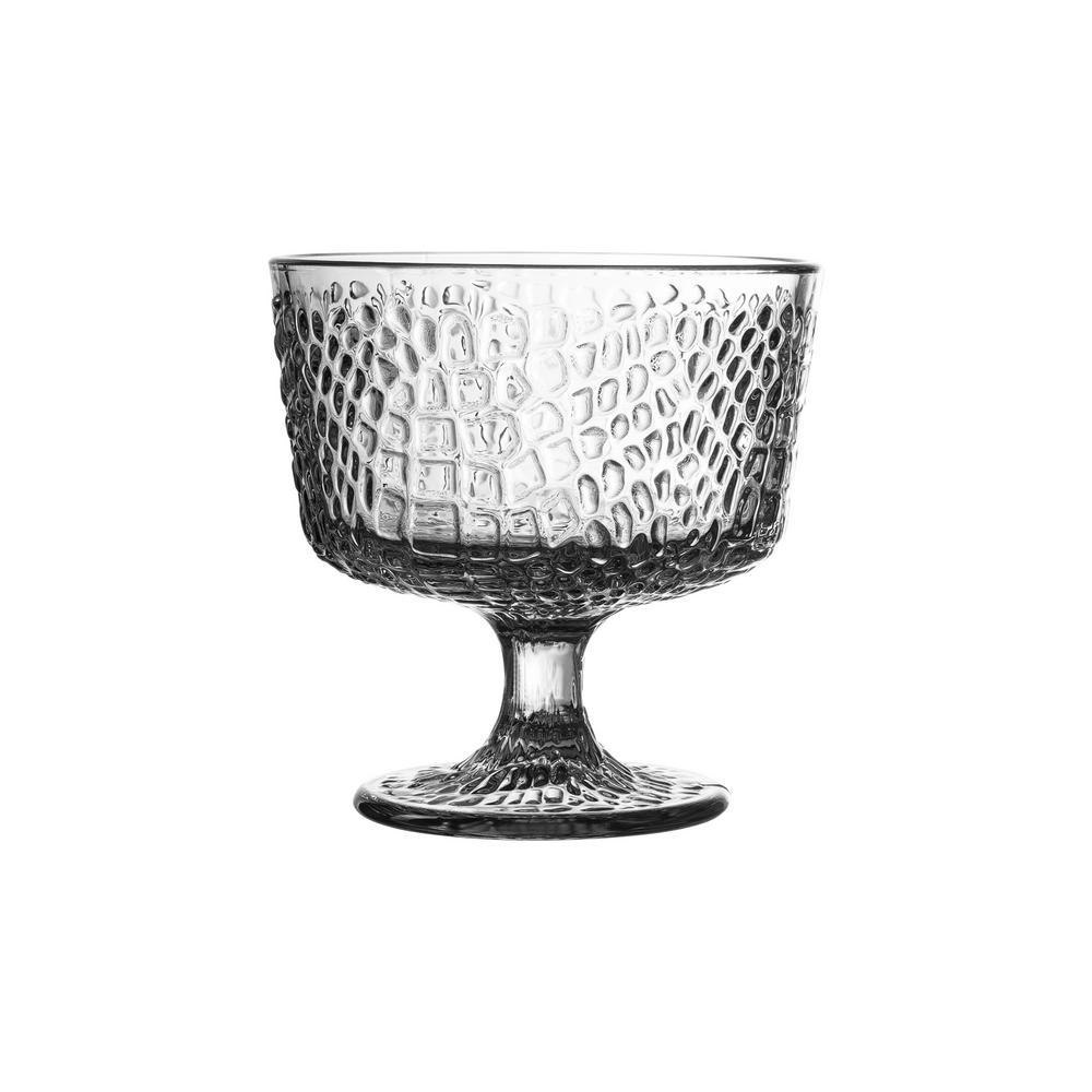 Bistro Croc Clear Pedestal Bowls (Set of 4)