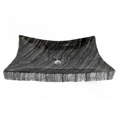 Large Zen Sink in Wooden Black Marble