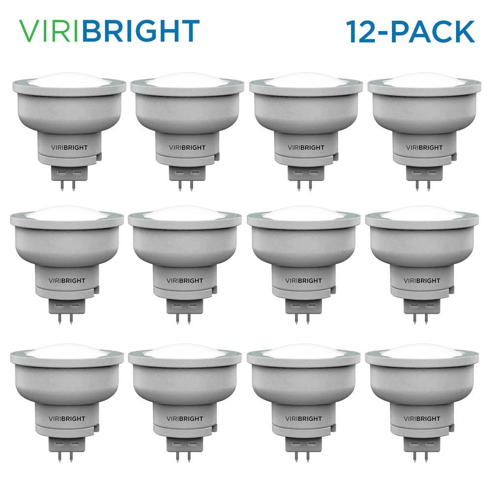 Viribright 35-Watt Equivalent (2,700K) MR16 Non-Dimmable GU5.3 Base Halogen Replacement LED Light Bulb Warm White (12-Pack)