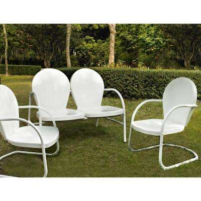 Griffith White 3-Piece Metal Conversation Seating Set