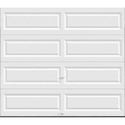Classic Collection 8 ft. x 7 ft. Non-Insulated Solid White Garage Door