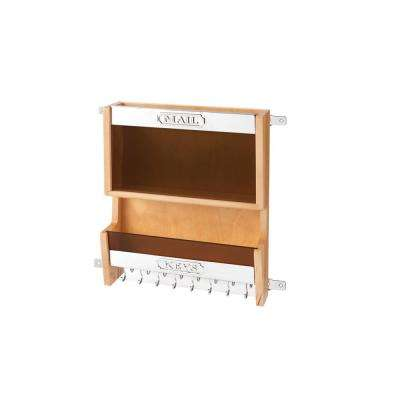 15 in. H x 13.5 in. W x 3.56 in. D Door Mounted Mail Organizer