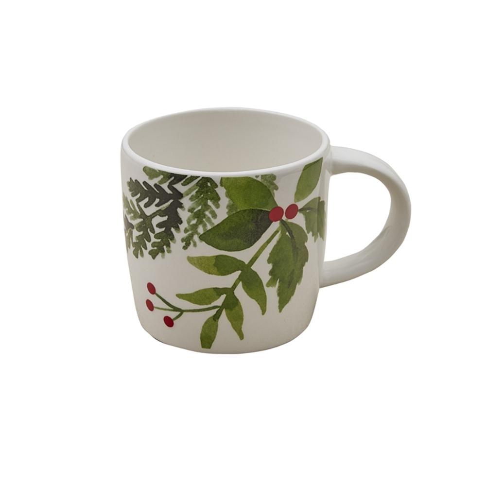 Winterberry 14 oz. Multicolor Ceramic Coffee Mug (Set of 4)