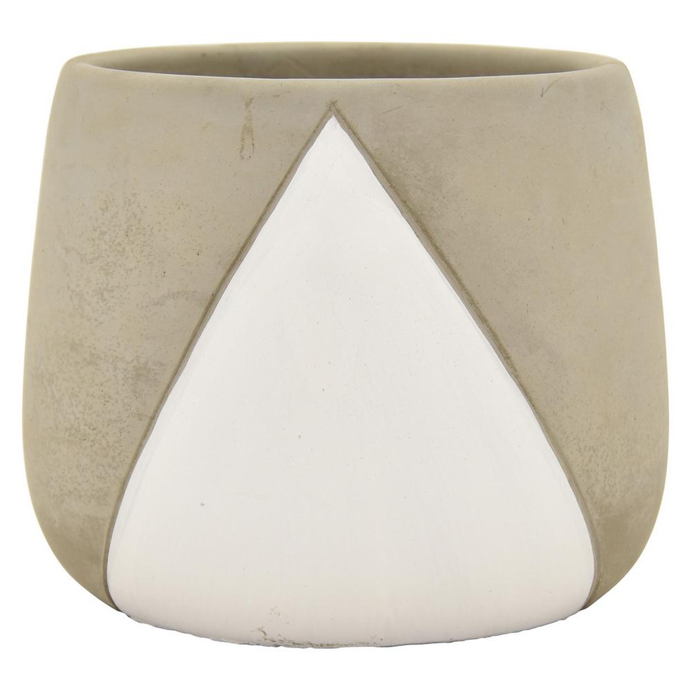THREE HANDS 6 in. Planter in White
