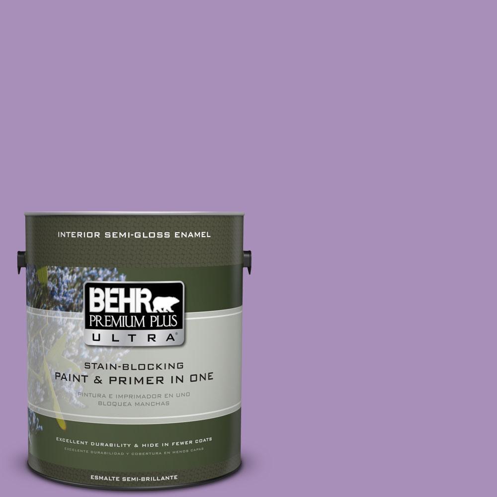 1-gal. #650B-5 Garden Pansy Semi-Gloss Enamel Interior Paint