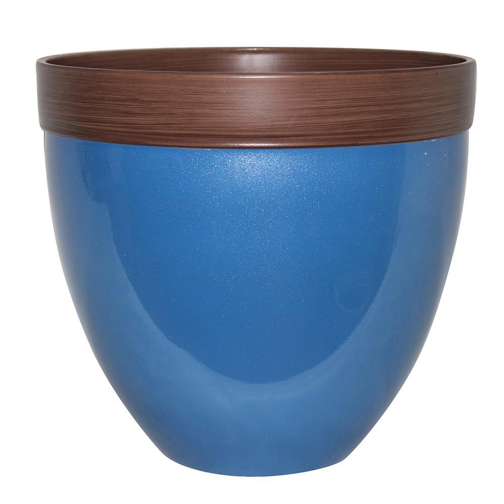 Blue Plant Pots Planters The Home Depot