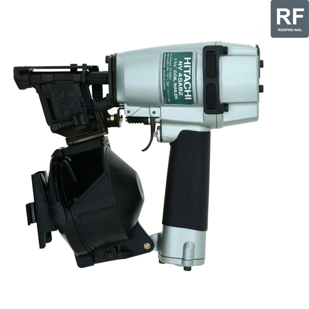 Hitachi 7/8 in. to 1-3/4 in. Roofing Coil Nailer with Bottom Load Magazine, Safety Glasses and 1-Wrench-DISCONTINUED