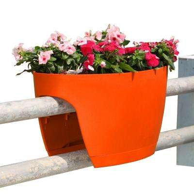 13.4 in. x 23.6 in. Orange Plastic XL Railing and Deck Planter (2 pack)