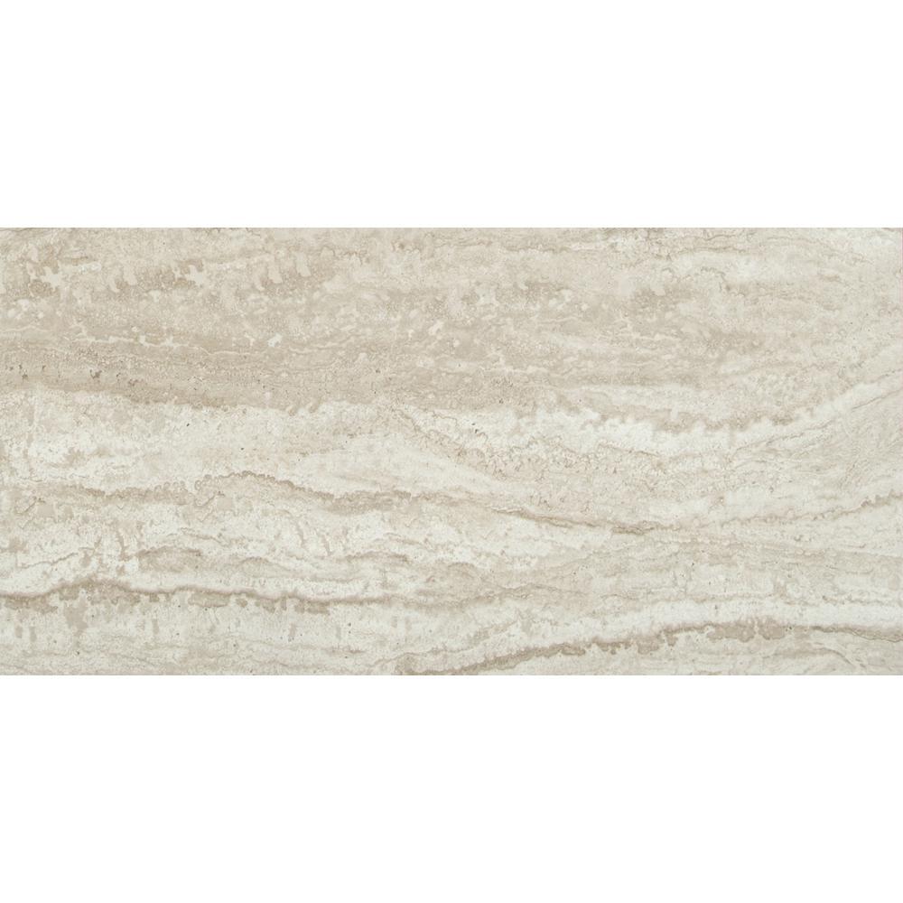 Msi Sigaro Ivory 12 In X 24 In Glazed Ceramic Floor And