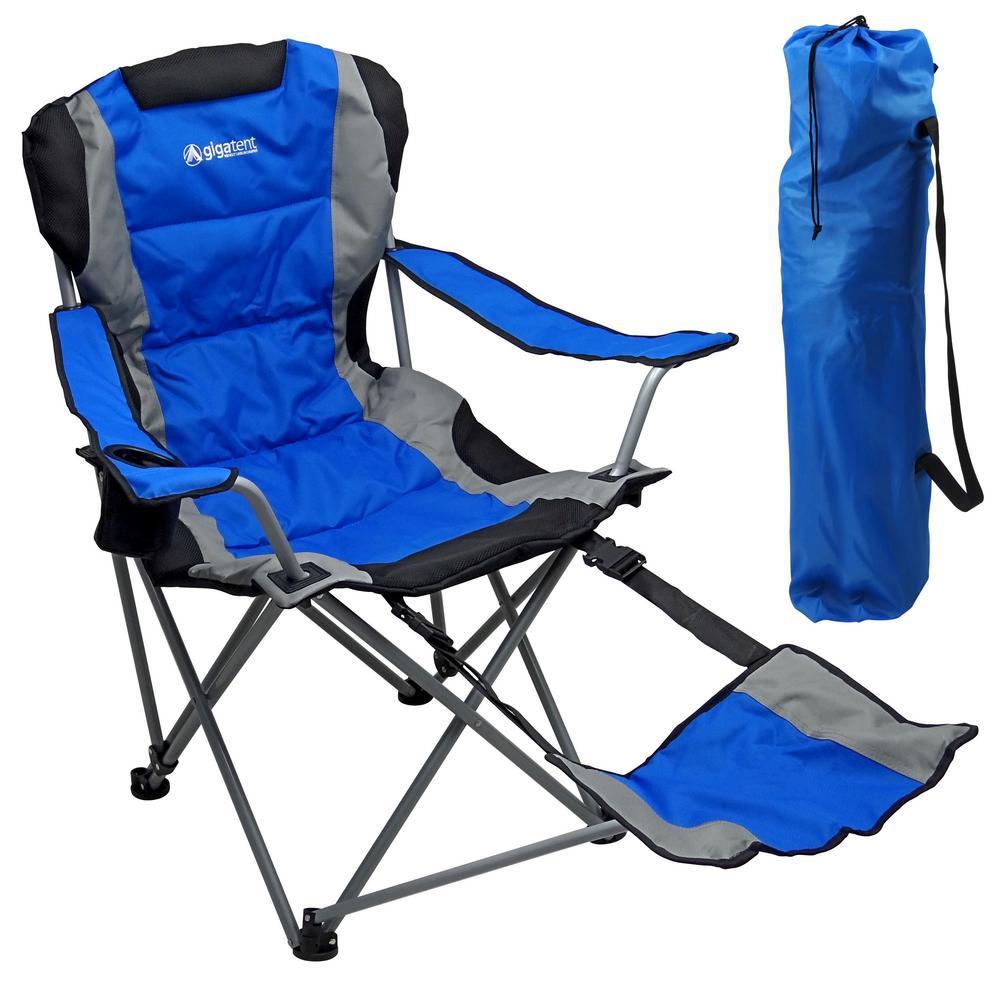 Excellent Gigatent Ergonomic Portable Footrest Camping Chair Blue Machost Co Dining Chair Design Ideas Machostcouk