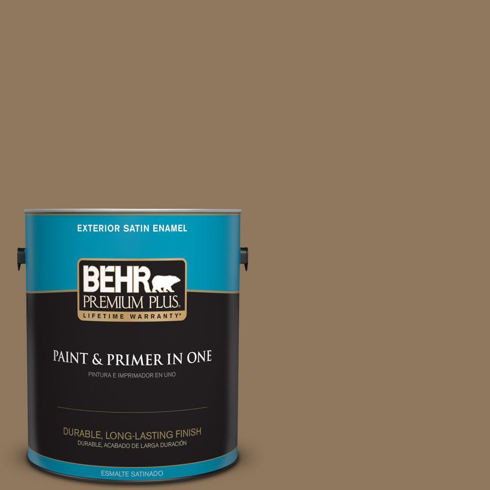 BEHR Premium Plus 1-gal. #N300-6 Archaeological Site Satin Enamel Exterior Paint