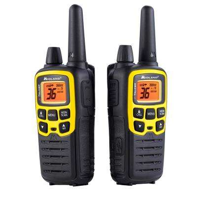 X-Talker 32-Mile 2-Way Radios with DTC and USB Charger in Black