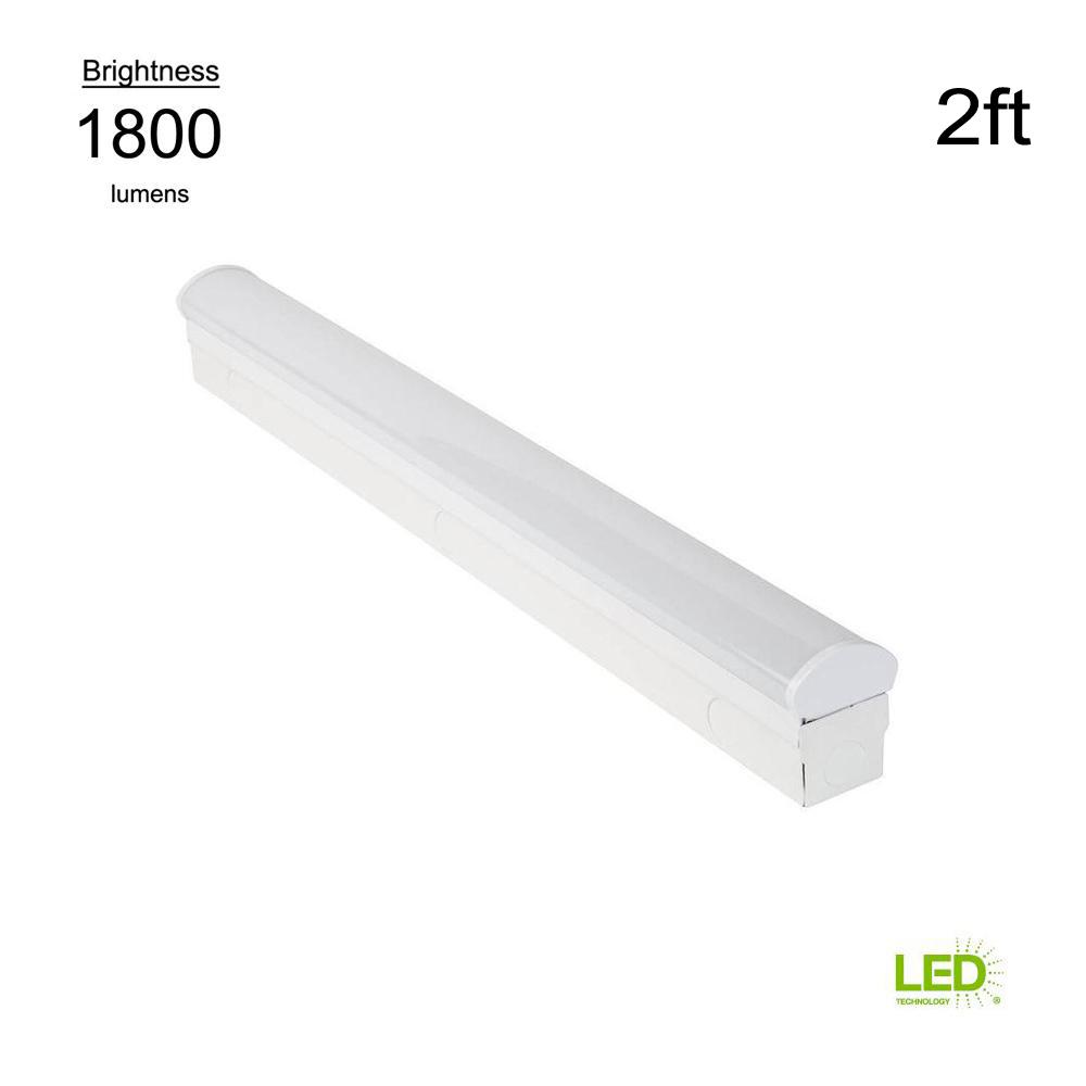 commercial electric direct wire powered 2 ft white 4000k integrateddirect wire powered 2 ft white 4000k integrated led strip light