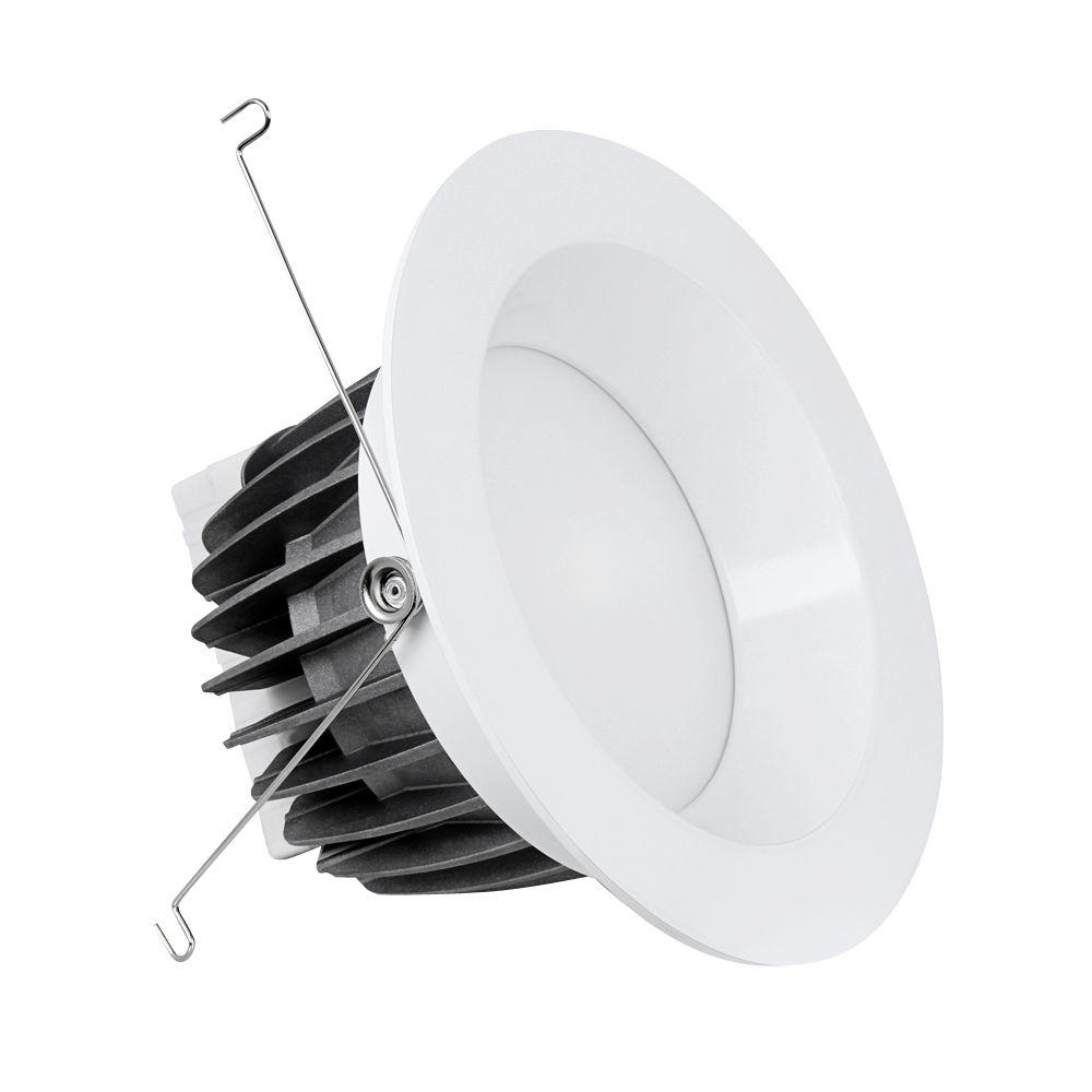 Feit Electric 6 in. 3000K White Recessed LED Retrofit Trim (4-Pack)