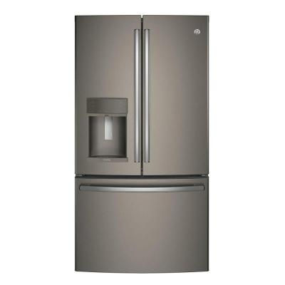 Profile 22.2 cu. ft. Smart French Door Refrigerator with Keurig K-Cup in Slate, Counter Depth and ENERGY STAR