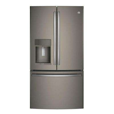 35.75 in. 22.2 cu. ft. Smart French Door Refrigerator with Keurig K-Cup and WiFi in Slate, Counter Depth, ENERGY STAR