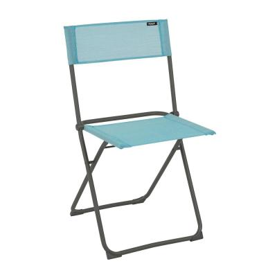Balcony Style Metal Outdoor Dining Chair in Lac (Turquoise) (2-Pack)