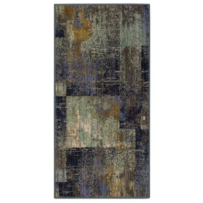 Empire Periwinkle 2 ft. x 4 ft. Geometric Scatter Area Rug