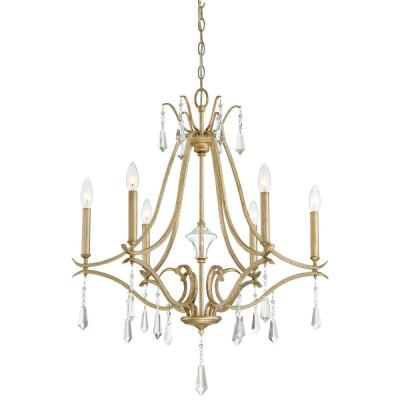 Laurel Estate 6-Light Brio Gold Chandelier