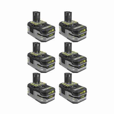 18-Volt ONE+ Lithium-Ion 4.0 Ah LITHIUM+ HP High Capacity Battery (6-Pack)