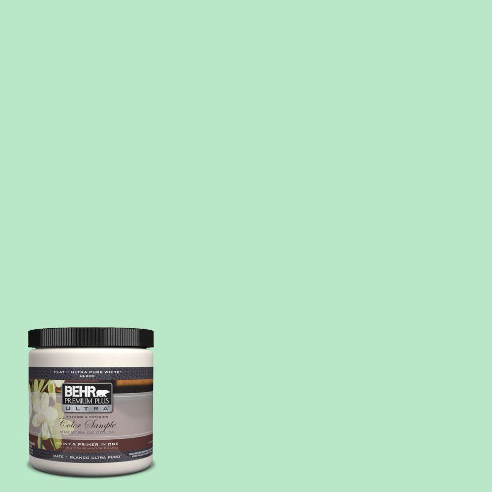 BEHR Premium Plus Ultra 8 oz. #460A-3 Canton Jade Interior/Exterior Paint Sample